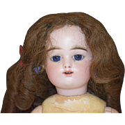SOLD Antique Doll French Bisque FG Gaultier Scroll Mark Gorgeous Face Straight Wrist