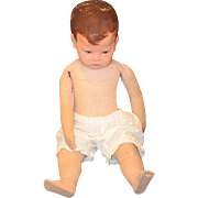 REDUCED Antique Doll Kathe Kruse Series 1 Oil Cloth Doll Boy Adorable