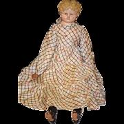 "REDUCED Antique Doll LARGE Papier Mache Greiner Superior 35"" Wonderful Face"