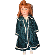 REDUCED Early Antique Doll French Bisque Unis 301 Original Paper Tag On Original Composition .