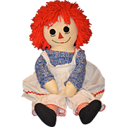 Huge Doll Raggedy Ann Cloth Doll Original Clothes