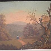 Old Painting Impressionist Oil Landscape WONDERFUL F.W. Devoe Academy