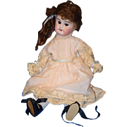 Antique Doll Bisque Miniature Cabinet Size Sweet Glass Eyes French Market