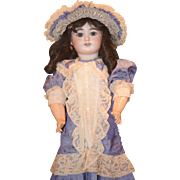 Antique Doll French Bisque  Eden Bebe Gorgeous & Dressed