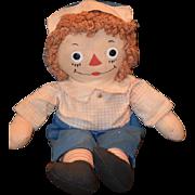 Vintage Doll Raggedy Andy Cloth Doll Rag Doll Johnny Gruelle's Button Eyes