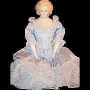 Wonderful Doll Emma Clear Parian China Head  Molded Crown Fancy Hair Style