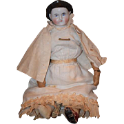 Antique Doll China Head Alice Doll Cabinet Size Gorgeous