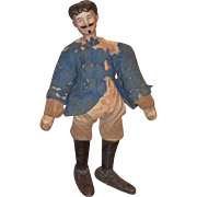 Old Doll Schoenhut Bisque Character Head Man Wood Jointed Carved Circus