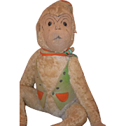 Old Doll Toy Large Jointed Mohair Monkey Original Tag Dressed! Ross And Ross