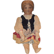 Old Doll Cloth Doll Rag Old Clothes Cabinet Size