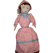 Old Doll Cloth Topsy Turvy Black Doll White Doll Rag Doll Painted Features