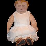 Old Doll American Cloth Doll Unusual Dressed WONDERFUL Face