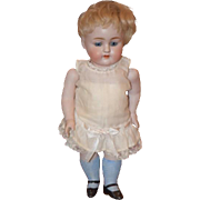 """Antique Doll All Bisque Kestner 150 11"""" Tall GORGEOUS Rare size Blue Stockings Cabinet si"""