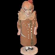 Antique Doll Papier Mache Paper Mache Clown Jester Musical Rattle Doll Toy Old Original ...