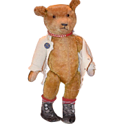 Antique Teddy Bear For Doll Mohair Jointed Hump Back