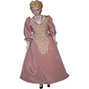 Antique Doll Fancy Bisque China Head with Fancy Hair Style and Bodice Miniature Dollhouse Lady
