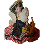 Antique Doll Bisque Miniature Dollhouse Wonderful Clothing