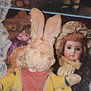 Old Doll Rabbit Cowboy Mohair WONDERFUL EASTER Toy