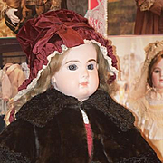 Antique Doll Cape Shawl Stole Fancy For French Doll Bisque Doll Coat Jacket