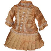 Old Doll Dress Drop Waist Sweet Cabinet Size Bisque Doll