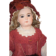 Antique Doll French Bisque Closed Mouth Jumeau Gorgeous Fab Clothing & Shoes Stamped Jumeau ..