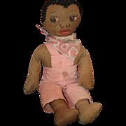 Old Doll Cloth Black Rag Doll Cloth Doll Folk Art Primitive