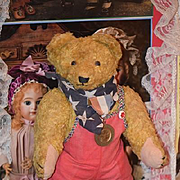 Old Teddy Bear Mohair Jointed Standing So Cute Unusual