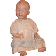 Antique Doll Laughing Heubach Bisque Head Character Baby Toddler Molded Hair 8191 Grinning