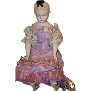 SOLD Vintage Doll Emma Clear Parian China Head Fancy Hair Style