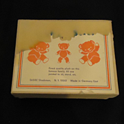 REDUCED Old Miniature Jointed Bears Bear In Original Box Germany Toy