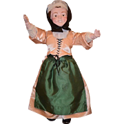 Antique Doll Schoenhut Wood Carved Smiling Carved Hair Smiling W/ Teeth