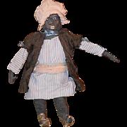 Old Doll Cloth Doll Rag Doll Black Doll Folk Art Primitive