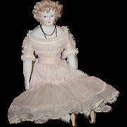 Wonderful Doll Emma Clear Fancy Parian China Head STUNNING