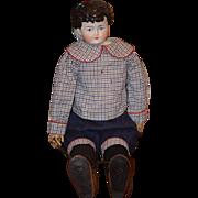 Antique Doll China Head Boy ABG Wispy Hair Adorable