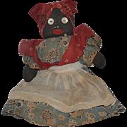 Old Doll Black Cloth Doll Rag Doll Folk Art Primitive