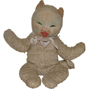 Old Doll Cat Toy Stuffed Dreamie Cat Adorable Stuffed Animal Kitty Cat Gund Mask Face