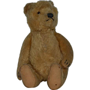 Old Teddy Bear Jointed Mohair Cabinet Size Hump Back