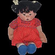 Wonderful Doll Cloth Carol Bowling Cloth Doll Stockinette NIADA Signed