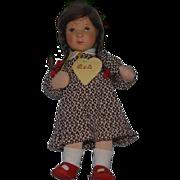 Vintage Doll Kathe Kruse EVA Doll Cloth Doll Wonderful