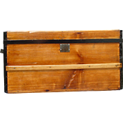 Antique Flat Top Stagecoach Trunk