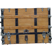 Antique Wall Saver Theatrical Trunk   A Rare Style of Trunk    Patented December 1892   As muc