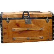 Antique Trunk w/1869 & 1872 Patent Dates As Much As a 144 Years Old Great ...