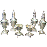 Early Sheffield Silver Condiment Set, circa 1875