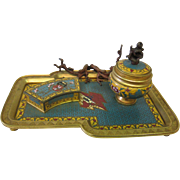 Cloisonne' Inkwell Desk Tray