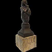 Bronze & Marble Desk Seal (signed)