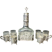 Vintage German 800 Silver Decanter Set