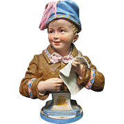 Vintage German Bisque Bust  (late 19th century)