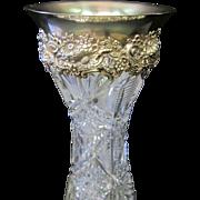 Sterling & Crystal Vase