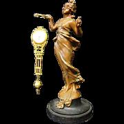 Vintage Art Nouveau Swinging Arm Clock