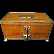 SOLD Antique English Oak Compartment Box